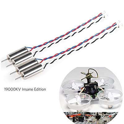 Crazepony 4pcs 6x15mm Motor (Speed: Insane) 19000KV for Blade Inductrix Tiny Whoop Micro JST 1.25 Plug with Rubber Rings: Toys & Games