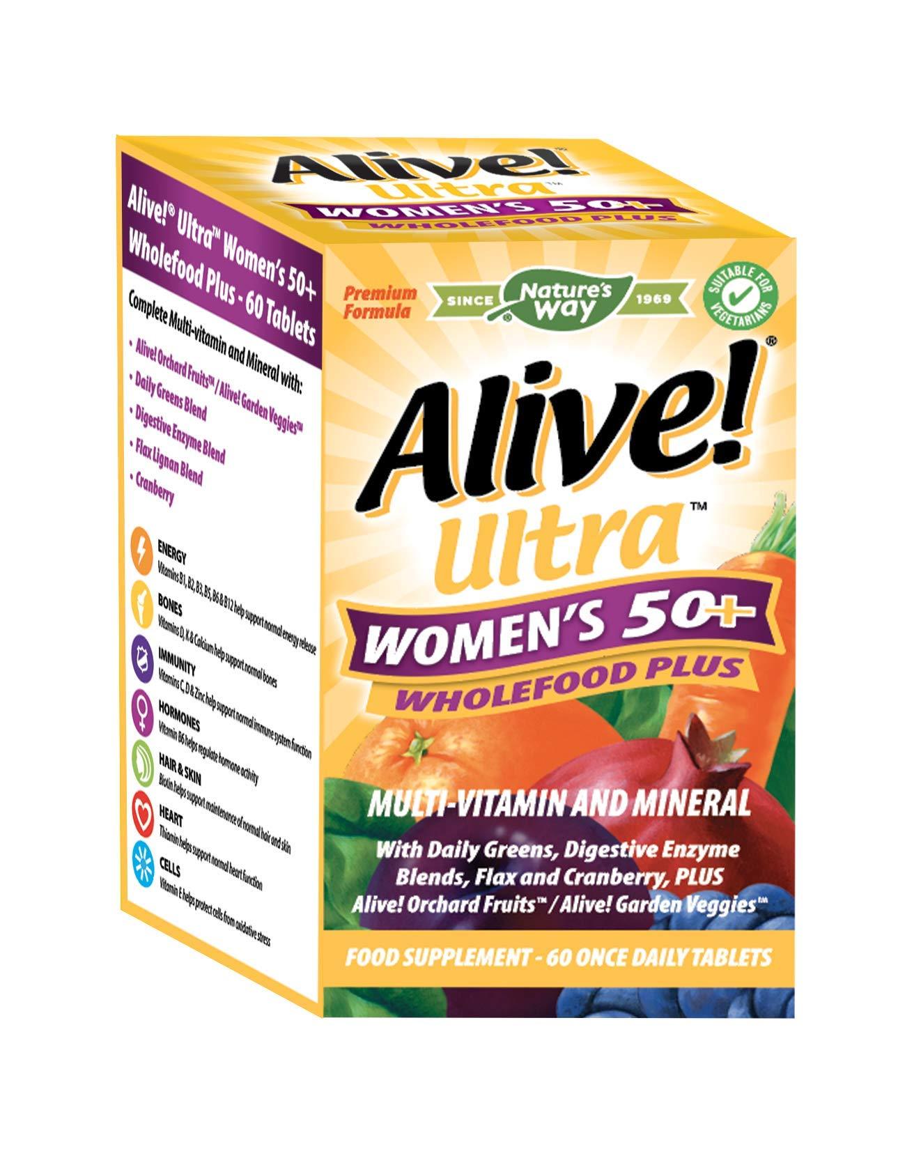 Alive! Ultra Women's 50+ Wholefood Plus Multivitamins - 60 Tablets