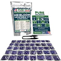 40 Heirloom Vegetable Strain Variety Pack Non-GMO Naturally Open Pollinated and Chemical Free