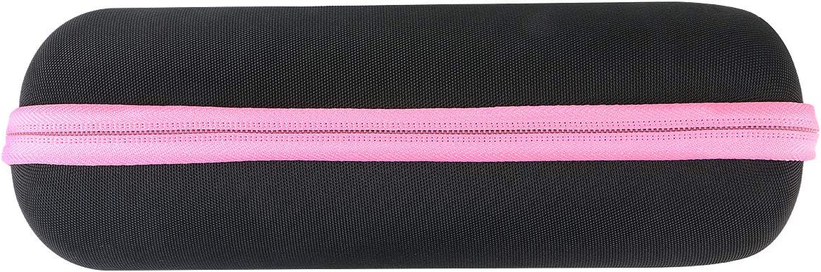 funda negra con cierre rosa jbl flip 5, co2rea