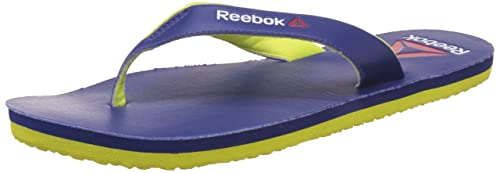 35e4586ed6520d Reebok Men s Advent Club Blue and Hi Vis Green Flip-Flops and House Slippers  -