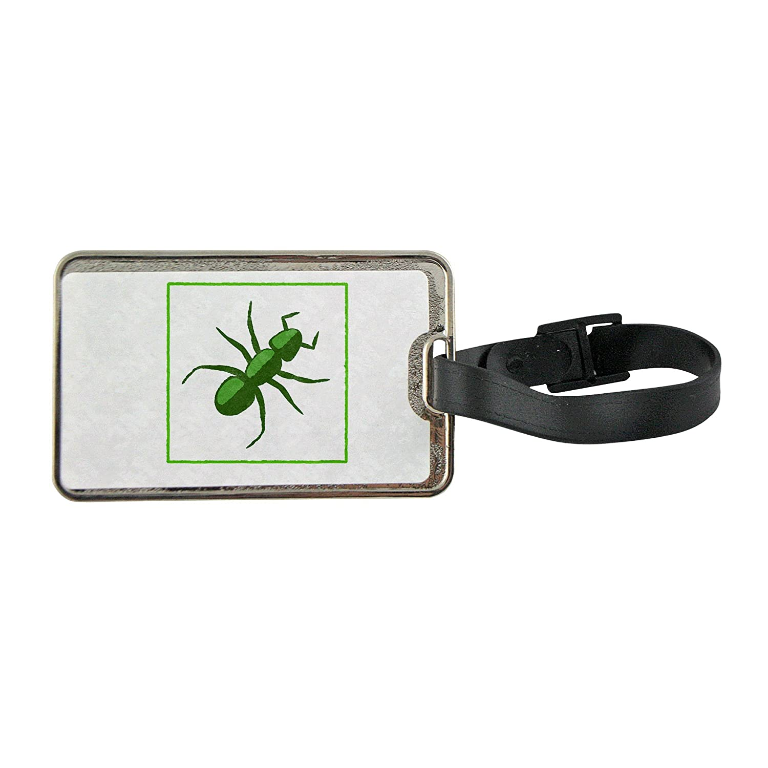 dc733a15e443 Metal luggage tag with An eco green ant icon 50%OFF - soulmystics.com
