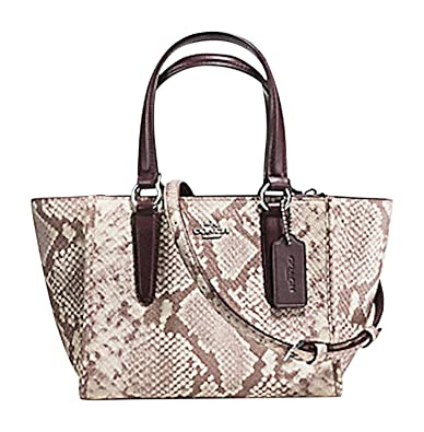 6532435405d3 Coach Exotic Trim Python Embossed Crosby 21 Carryall F11762 ...