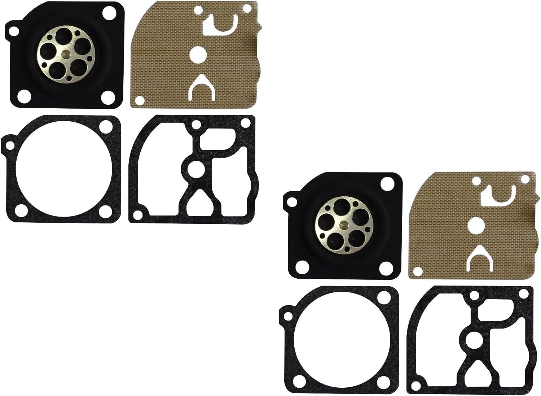 Lot de 2 C/·T/·S Joint de carburateur et kit de diaphragme remplace ZAMA GND-117 pour carburateur ZAMA C1Q-DM19 C1Q-DM20