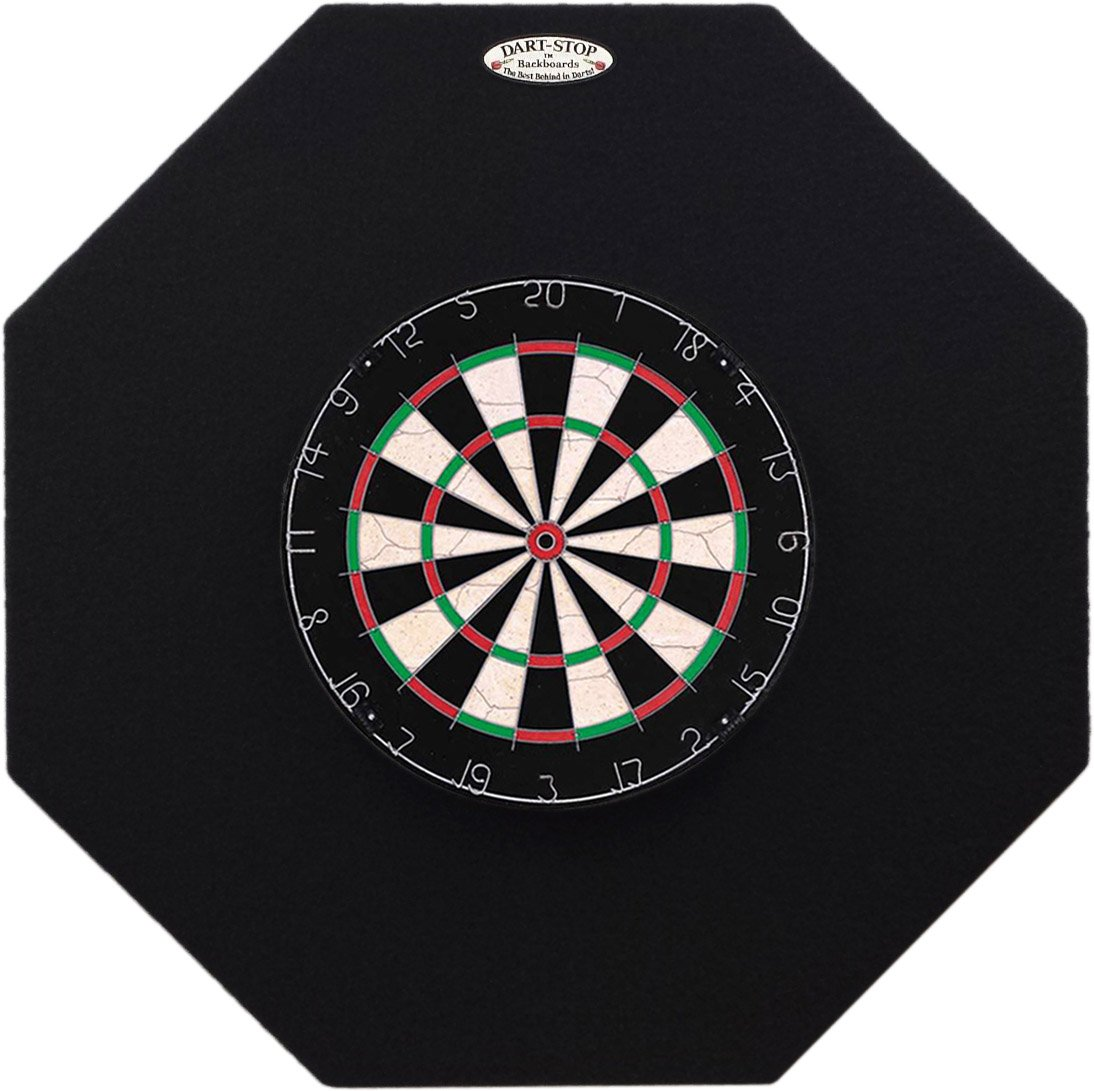 36'' Professional Dartboard Backboard, Octagonal (Black)