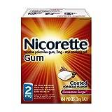 Nicorette Nicotine Gum, Stop Smoking Aid, 2mg, Cinnamon Surge Flavor, 160 count