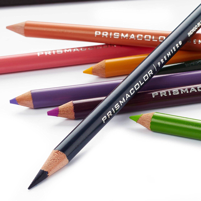 Prismacolor Premier suave núcleo lápices Adult Coloring Book Kit con batidora, ilustración marcador, goma de borrar, sacapuntas y cuaderno para colorear, ...
