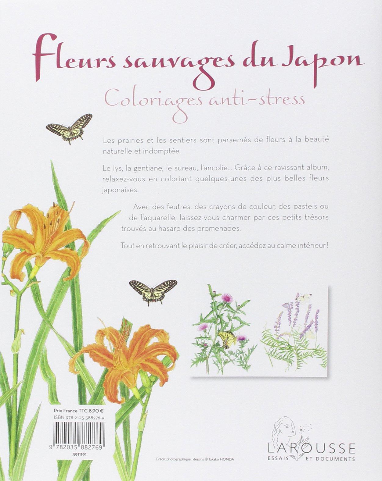 Amazon Fleurs sauvages du Japon coloriages anti stress Collectif Livres