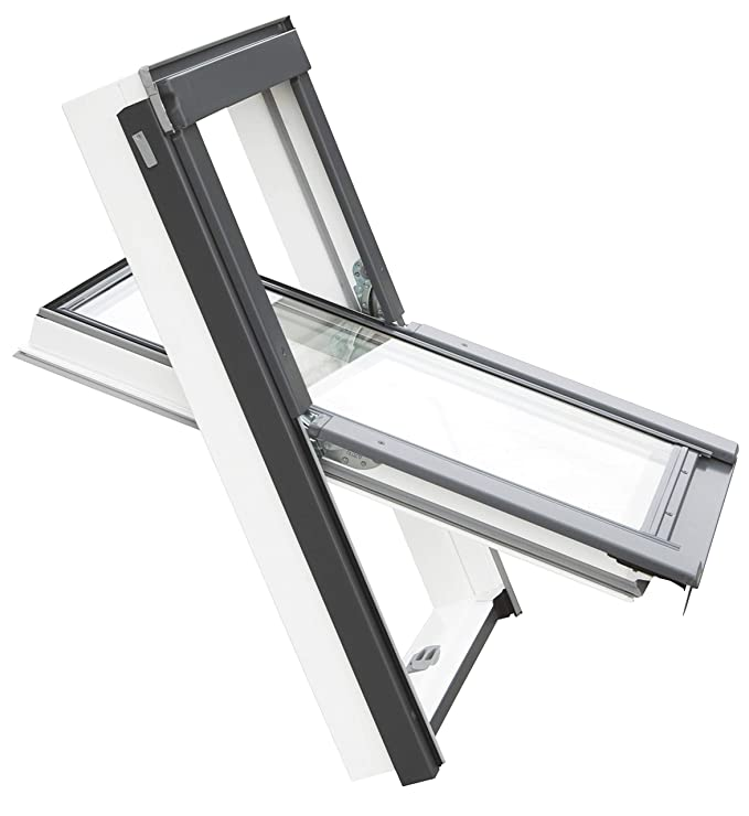 78 x 134 Eindeckrahmen 0-50mm Balio Dachfenster APB aus Kunststoff incl Universal