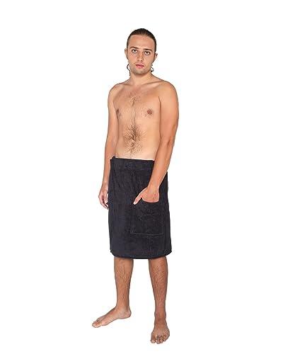 Velcro Shower Towel Wrap: Bamboo Men's Luxurious Shower/bath Towel Wrap (with Velcro