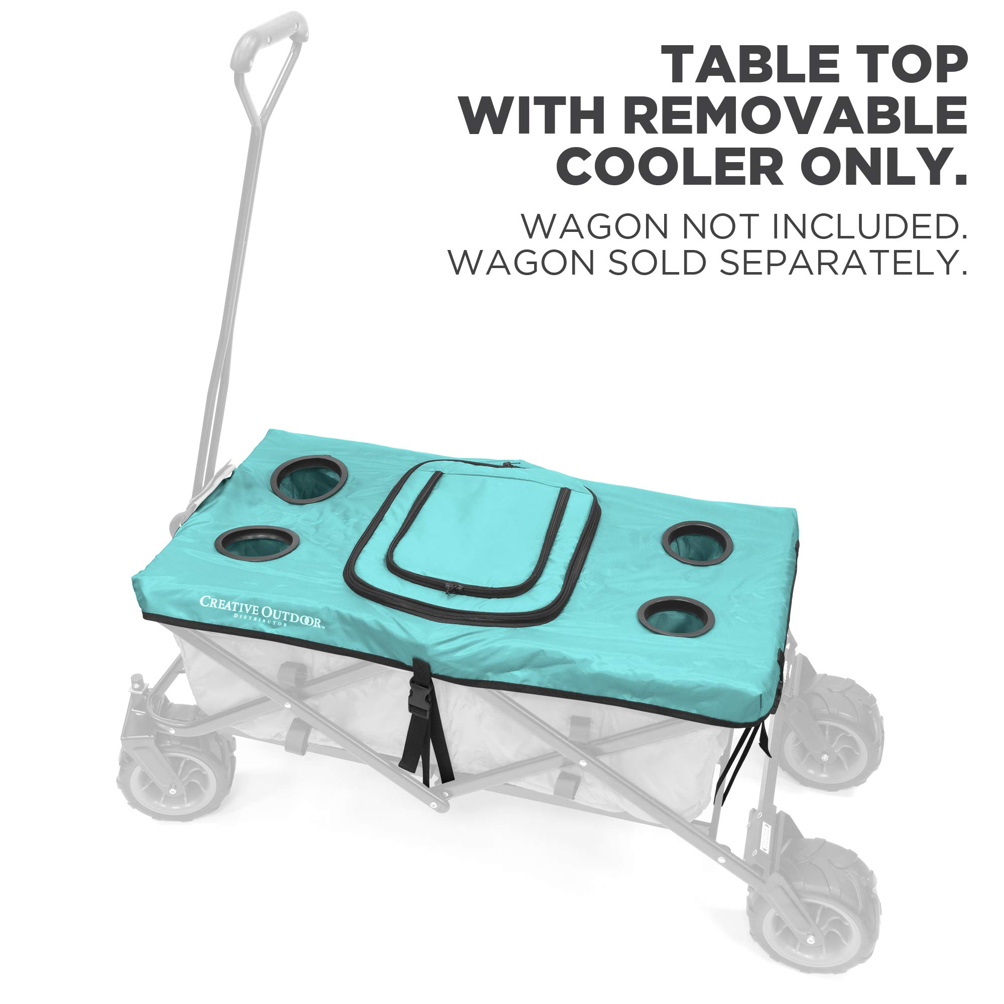 Creative Outdoor Distributor Folding Wagon Table Top Cooler Cover - Teal