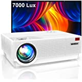 Proyector, WiMiUS 7000 Lúmenes Proyector Full HD 1920x1080P Proyector Cine en Casa Soporte 4K Contraste 10000: 1 Ajuste…
