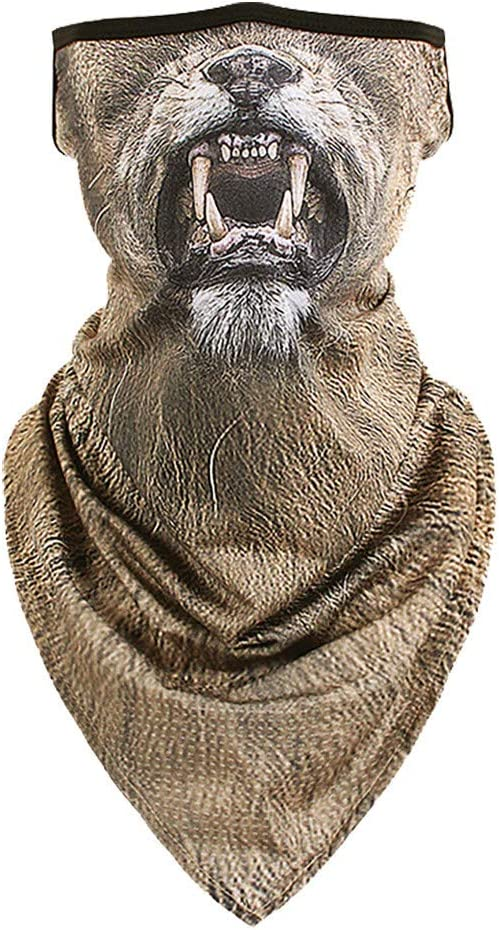 cinnamou Unisex Schlauchtuch Multifunktionstuch Tierdruck Damen Herren Bandana Loop Schal Gesichtsmask Schal Face Shield Maske uv-schutz Kopftuch f/ür Motorrad Fahrrad Sommer Outdoor Sport