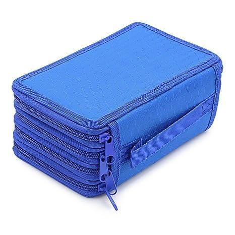 YUNDUO Bolsa de papelería Estuche para lapicera de 4 capas ...