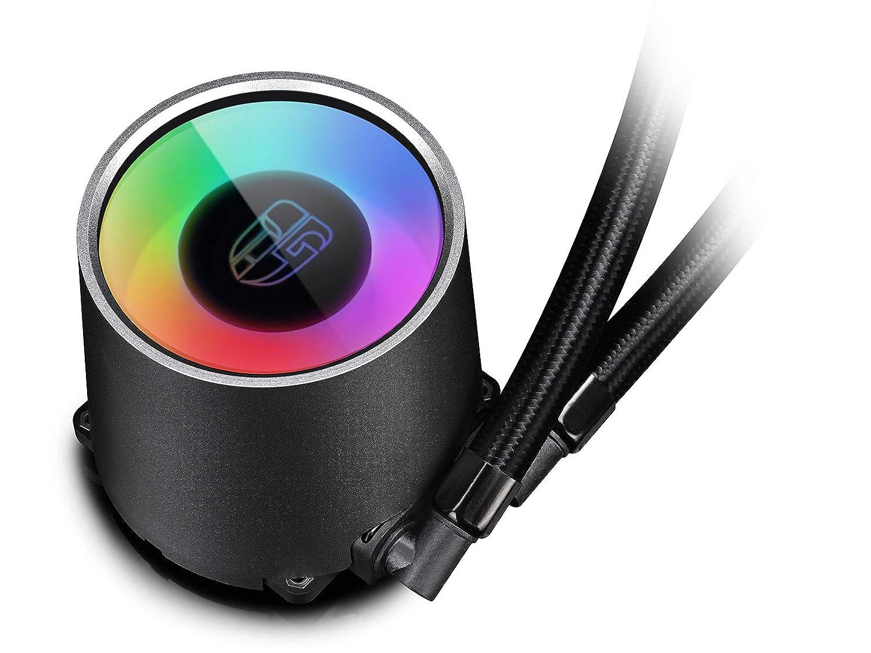 Garant/ía de 3 A/ños Adaptador Incluido Silenciosos 140mm 2 PWM Ventiladores RGB DEEPCOOL Castle 280 RGB Refrigeraci/ón L/íquida CPU Silencioso AIO de Alto Rendimiento con Bomba RGB 5V