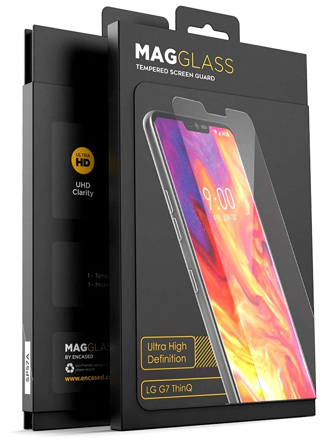 Magglass (Case Compatible) LG G7 ThinQ Tempered Glass Screen Protector (XT90 Scratchproof/Shatterproof) Ultra High Clear Definition Reinforced Screen Guard (Clear)