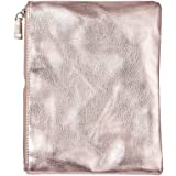 Whitelotous Fashion Creative Large Capacity Zipper Cosmetic Makeup Storage Bag (Rose Gold)