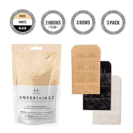 Cocos Best - Sujetador extensor de 2 ganchos para mujer en estrecho o o regular, extensores