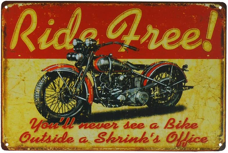 PEIs Live to Ride Indian Motorcycle Retro Tin Metal Sign Home Bar Man Cave Garage Decor 8x12 inch