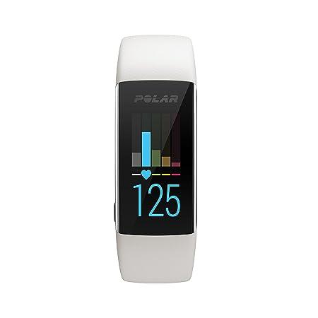 Polar A370 Reloj de fitness con GPS conectado y Frecuencia cardíaca en la muñeca. Actividad 24/7 - Blanco, M/L