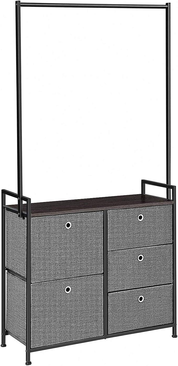 Amazon.com: Songmics - Cómoda con cajón ancho con estante ...