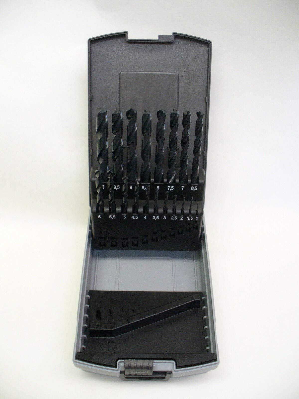 TNPSHOP 19 PIECE METRIC DRILL BIT SET HIGH SPEED STEEL 1-10mm BY .5mm INCREMENTS by TNPSHOP