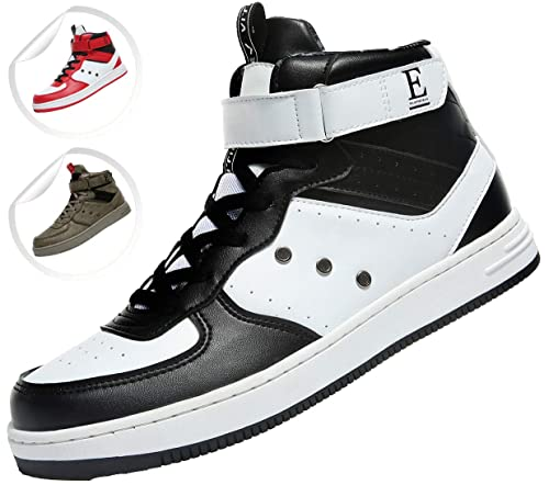 Elaphurus Mens Mid Basketball Shoes Outdoor Trainers Fashion Sneaker Black 3b3a044f62c