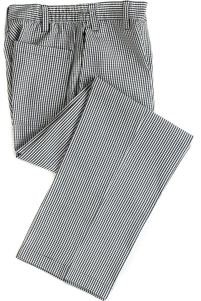 Checkered Zip Front Chef Pant, 30X32