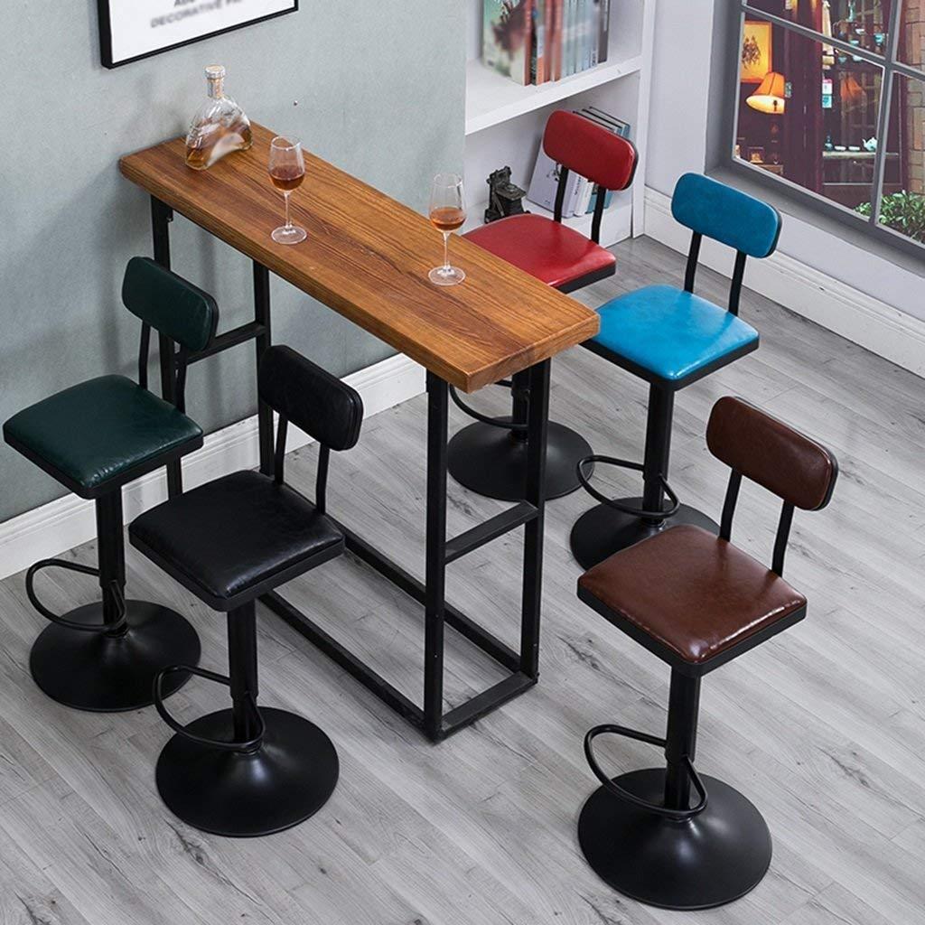 Genven Modernes Design Barhocker, Höhe Stuhl Restaurant Club Bar KTV KTV KTV Coffee Shop Hocker Eisen Kunst Vintage Stuhl kann drehen und Heben Größe 38  105cm cool (Farbe  E) (Farbe   B) b5ac19