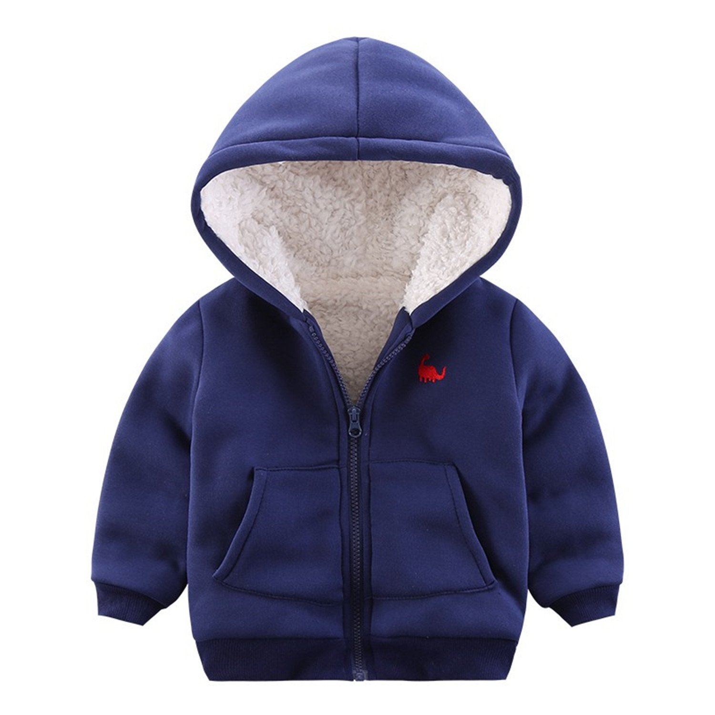 Amazon com: Dinosaur Velvet Children Winter Jackets Fleece