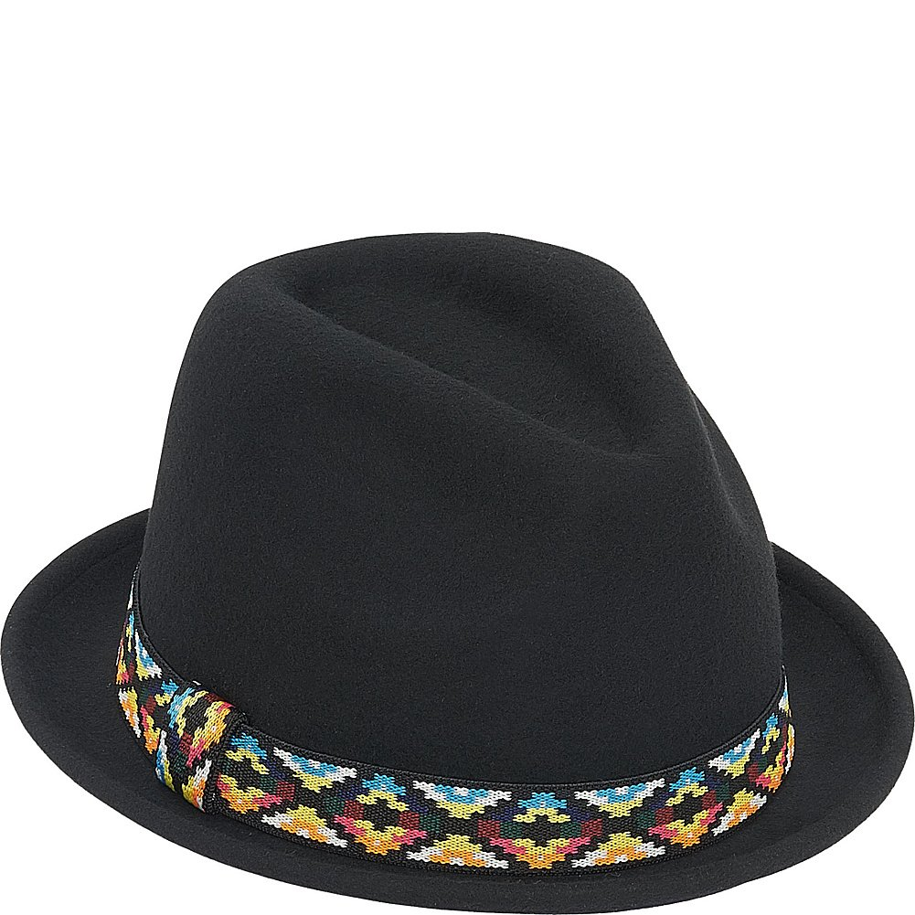 Adora Hats Upturn Wool Felt Fedora Hat (One Size - Black) at Amazon Women s  Clothing store  54e4d48da97