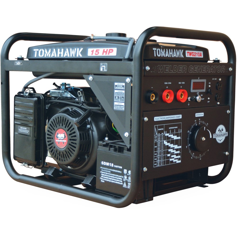 Tomahawk 15 Hp Engine Driven Portable 2000 Watt Lincoln Ranger 10000 Wiring Diagram Generator With 210 Amp Stick And Tig Welder Kit Automotive