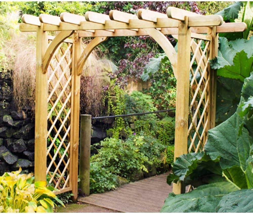 Tamaño grande Ultima pérgola Arch resistente estructura de ...