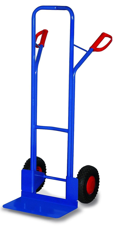 VARIOFIT Sackkarren Stahlrohrkarren, Gewicht: 16kg, H: 130cm, Schaufel (BxL): 48 x 30 cm