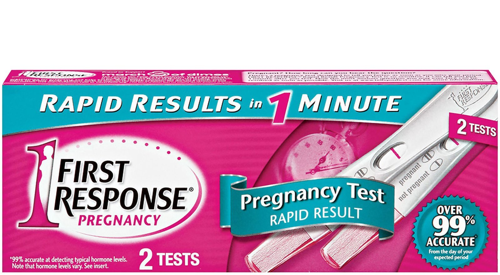 First Response Rapid Result Pregnancy Test, 2CT (Pack of 12)
