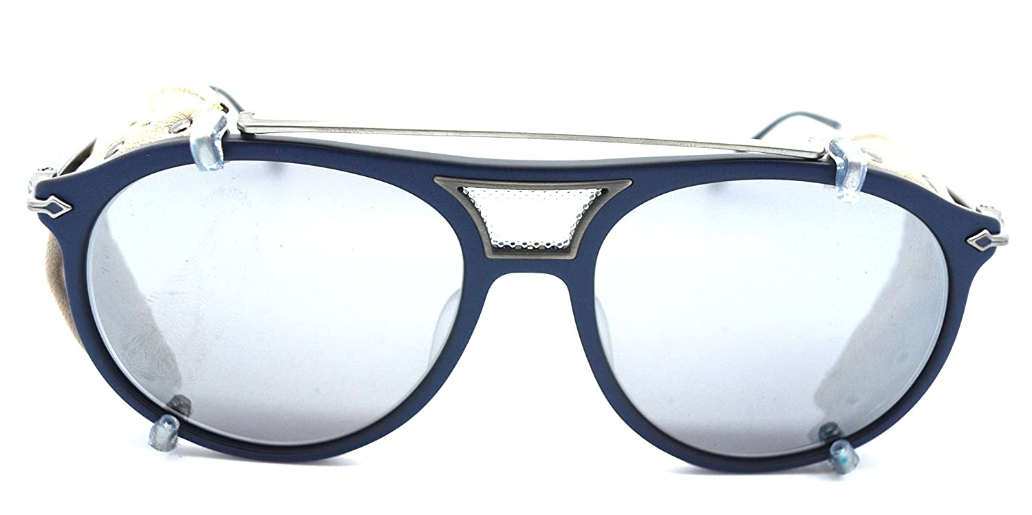 122136e9eb5 Amazon.com  Matsuda M2031 Matte Navy limited edition sunglasses with  removable side shields  Clothing