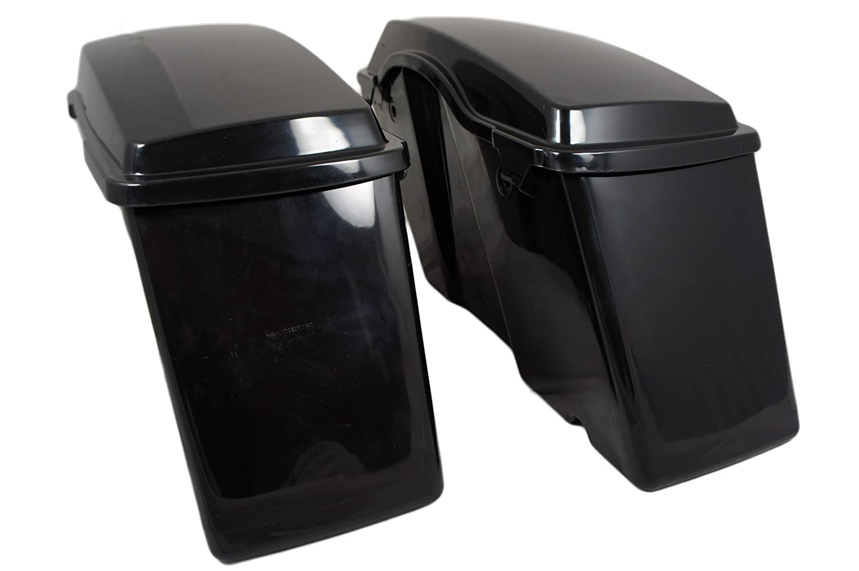 Vivid Black Fat Ass Wide Stock Hard Saddlebag For Harley Touring