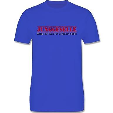 JGA Junggesellenabschied - Junggeselle - Zeige Mir was Ich verpasst Habe - Herren  T-Shirt Rundhals: Shirtracer: Amazon.de: Bekleidung