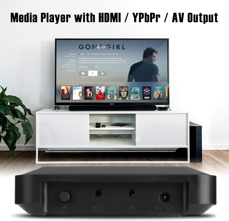 AGPTEK 1080P Full HD TV Digital Multi Media Player Media Player Reproductor Multimedia con Control Remoto para 1080P HD USB SD MMC MP3 RMVB AVI, MPEG, DivX MKV: Amazon.es: Electrónica