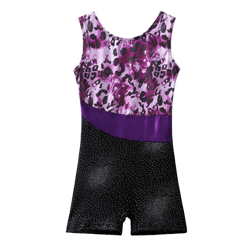 BAOHULU Leotard for Girls Gymnastics Toddler Sparkle Stripes Tank Biketards  One Piece product image 7719d416d60
