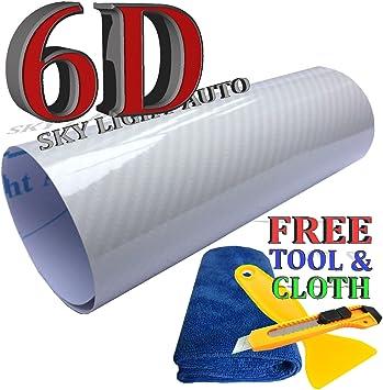 Motorup America Carbon Fiber Vinyl Wrap 12 x 50 Inch Roll Auto Film Wrap Sticker 2D Carbon Fiber