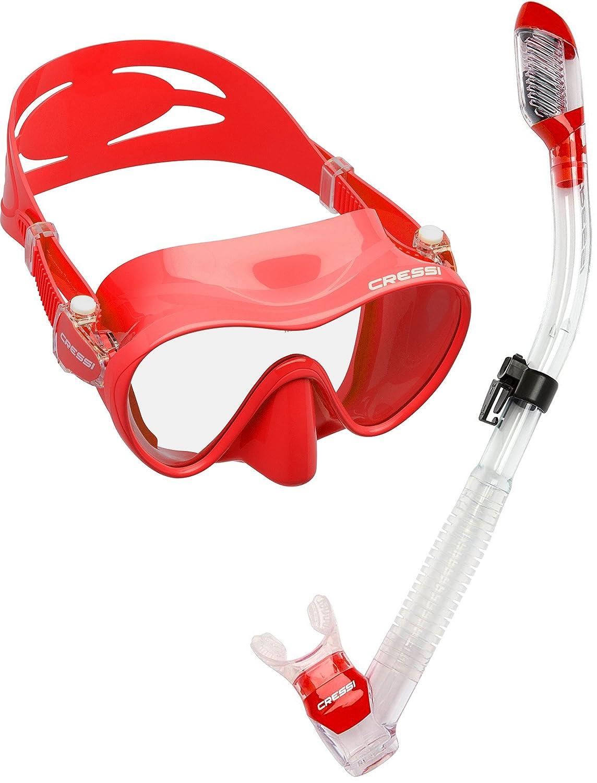 Cressi Scuba Diving Snorkeling Freediving Mask Snorkel Set Blue Phantom Aquatics USC281020