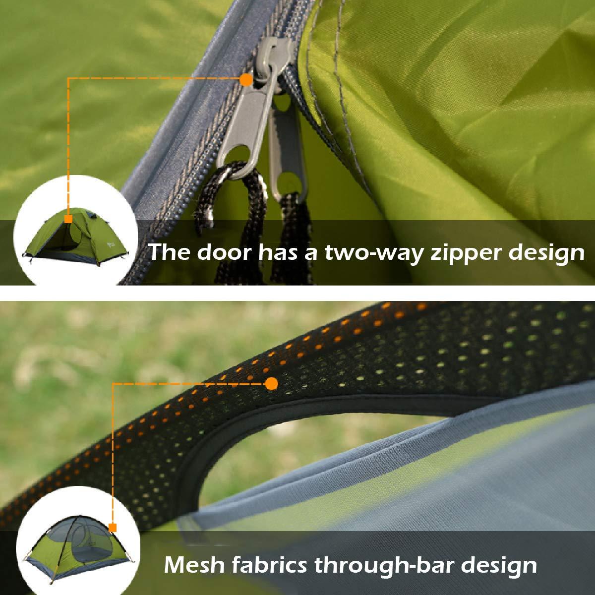Protection UV imperm/éable l/ég/ère de Tente de 3 Saisons avec Le Sac de Transport TRIWONDER Tente de 2 ou 3 Personnes pour la randonn/ée de Camping