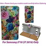 For Samsung Galaxy J710 (J7 2016) Flip Cover Case : DEKKIN Designer Fancy Premium Flip Cover Case For Samsung Galaxy J710 (J7 2016) - DESIGN30