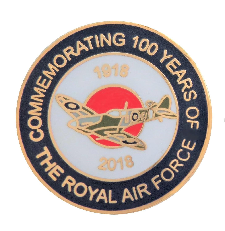 Royal Air Force RAF 100 années CENTENAIRE SPITFIRE épinglette 1000 Flags Limited
