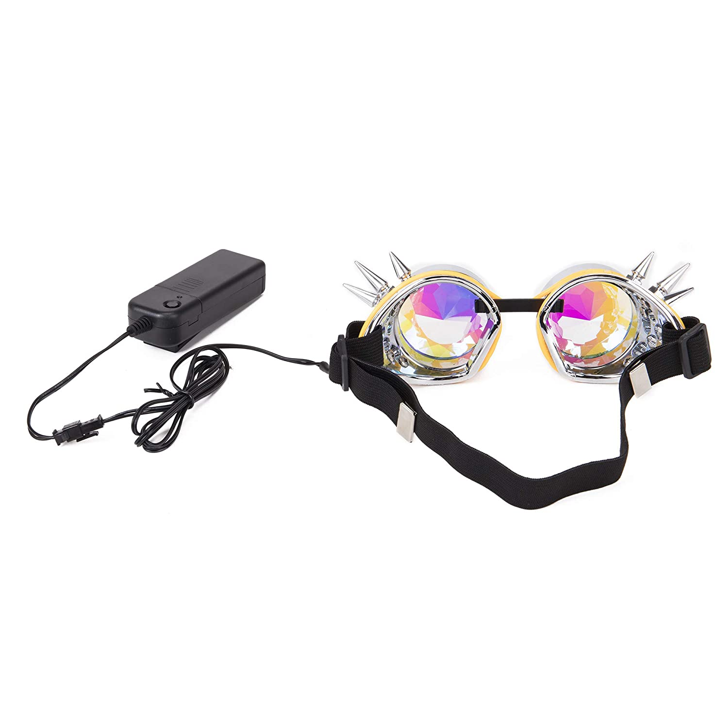 659a185c9384 FOCUSSEXY Kaleidoscope Glasses Rave Crystal Prism Steampunk Goggle Fashion  FS MG041B-CN-WLJ01