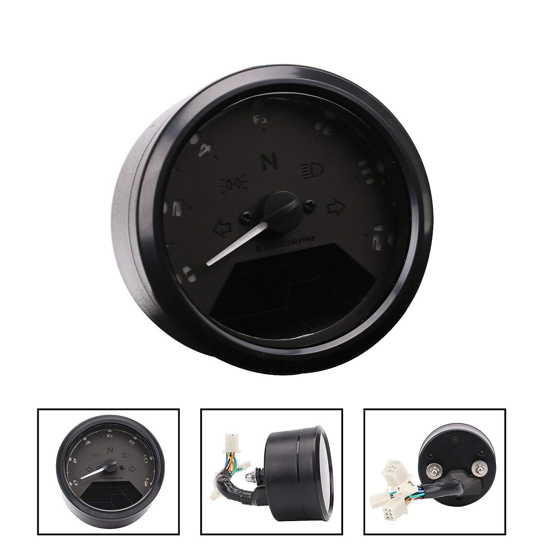 Amazon.com: PACEWALKER 52MM/2Inch 12000RPM LCD Digital Tachometer  Speedometer Odometer for Motorcycle, Dirt Bike, Boat Marine: Automotive