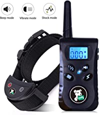Fiddy Dog Training Collar with Remote, Shock Collar for Dog Bark Pet Electronic Collar for Small Medium Large All Breed Dogs,Beep Vibration Shock 3 Modes