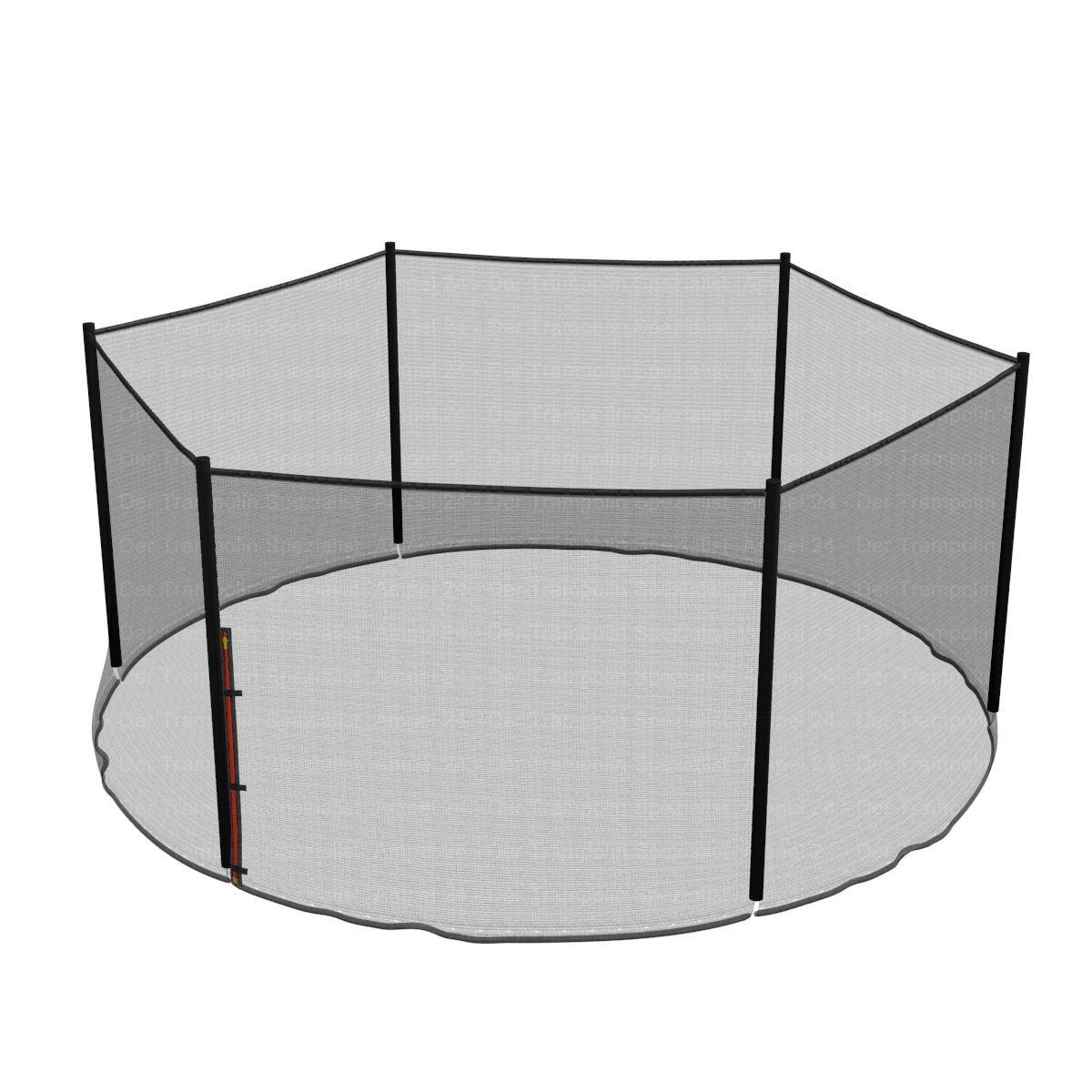 Ampel 24 Trampolin Sicherheitsnetz   Ersatznetz 430 cm für 6 Pfosten   UV-Besteändig   extrem reißfest   Netz außenliegend