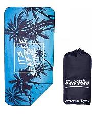Sea Free Toalla de Playa Hombre Toalla Grande de Playa 90x180cm, Fuerte Absorción de Aguat